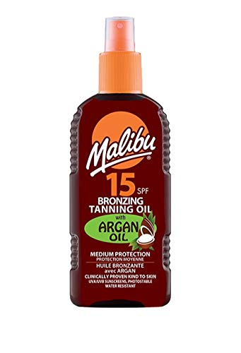 MALIBU BRONZING OILS ALL 200ml TANNING WITH ARGAIN OIL COCONUT TROPICAL SCENT *FAST & SAME DAY DISPATCH ONCE PAYMENT RECEIVED* (MALIBU BRONZING OIL AR