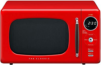 WINIA WOR07R3ZER Retro Countertop Microwave Oven, 0.7 Cu. Ft, Red
