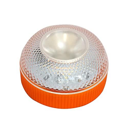 CAILING Alta Luminancia Luz Magnética Led, Luz de Emergencia, Señal V16 de Preseñalización de Peligro Homologada y Linterna, Luz Emergencia Coche, para Coches y Motocicletas -Naranja (Sin batería)