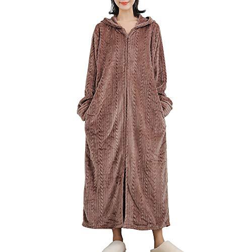 パジャマ レディース 着る毛布 ガウン ネグリジェ もこもこ ルームウエア フード付き 長袖 ロング 部屋着 前開き 暖かい 冷え対策 防寒 保温 大きいサイズ 春秋冬