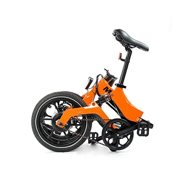 BMX Bikes MiRiDER One – Folding Electric Bike (2020 Edition) – Lightweight Foldable Compact eBike For Commuting & Leisure – 16 Inch Wheels, Rear Suspension, Pedal Assist Unisex Bicycle, 250W / 36V [tag]