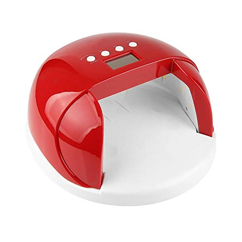 ERWEF 60W Induction Ongles photothérapie Machine, LED UV Nail Grill (Size : Red)