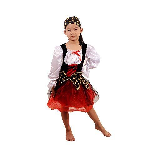Zhao Li Europese en Amerikaanse klassieke stijl kinderen Caribische vrouwen Piraat kostuum Cosplay Halloween Carnaval partij kostuum
