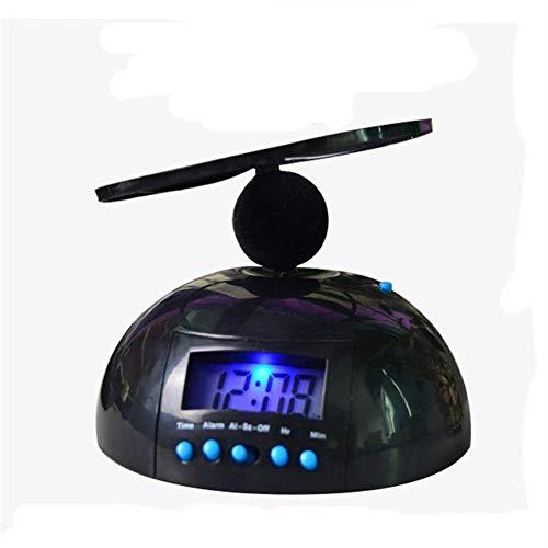 BECCYYLY Reloj de la Noche, Reloj de Alarma Ajustable Decoración para el hogar Reloj Creativo Digital Loco Molesto Volando helicóptero Reloj Despertador, Simple wmpa