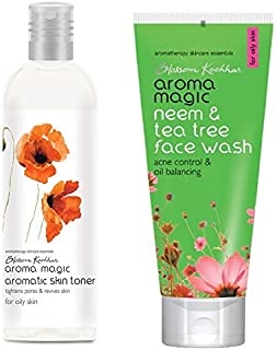 Aroma Magic Aromatic Skin Toner, 100ml and Aroma Magic Neem And Tea Tree Face Wash, 100ml