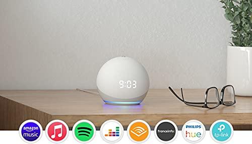 Echo Dot (4e génération), Enceinte connectée avec horloge...