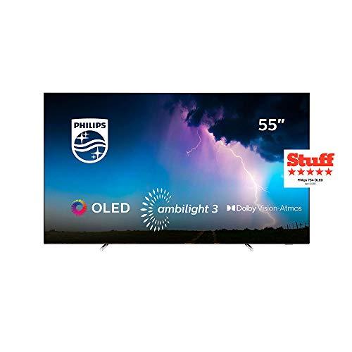 Philips 55OLED754, 7 series Smart TV OLED UHD 4K con tecnologia Ambilight su 3 lati