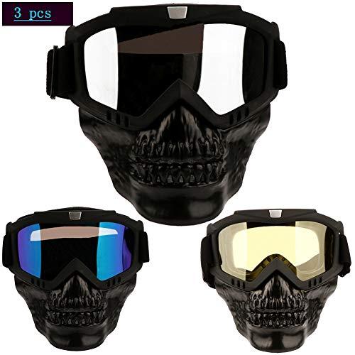 Tanypro 3 Pack Maskenbrillen Motorradbrillen Helmbrille Schutzbrille Sonnenbrillen Brillen Für Männer - Radfahren taktisch AugenschutzSport im Freien Ausrüstung