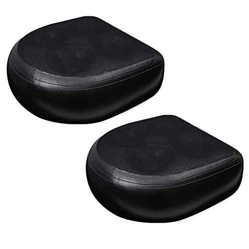 Anjinguang 1/2/4 Stück Spa und Whirlpool Booster Sitz, aufblasbares Badewannen-Massagekissen, Rückenstütze, Massagematte für Erwachsene und Kinder für Lazy Spa (schwarz + Netz)