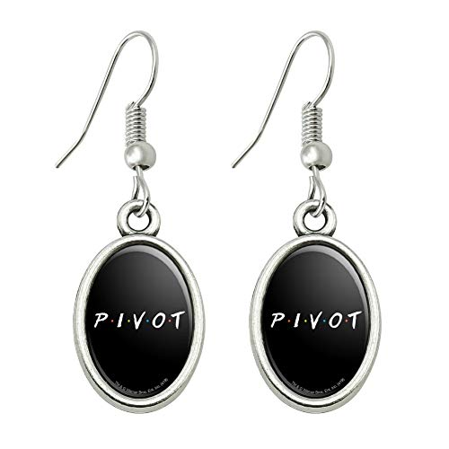 GRAPHICS & MORE Friends Pivot Novelty Dangling Drop Oval Charm Earrings