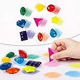 DOOLY Crayones en Forma de Diamante de 9 Colores, Pintura Lavable no tóxica, Cera de Dibujo para bebés, Suministros de Arte para niños