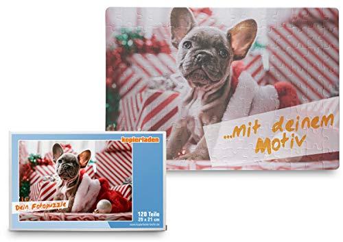 Kopieerwinkel fotopuzzel zelf vormgeven, puzzel met eigen foto, motief of tekst, 120 delen, 29 x 20 cm - persoonlijk fotocadeau, cadeau-idee