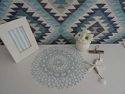 Old Lace Dekoration Collection 200 (Baby Blue) Häkeln,Skandinavisch, Shabby Chic, Landhaus, Romantische, Design Klassiker Möbel für eine Moderne Elegante Wohnung