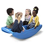 Simplay3 Two Sided Rock and Roll Teeter Totter and Climbing Bridge for 4 Children