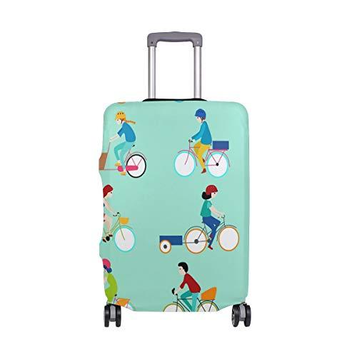 Funda de equipaje de viaje con impresión de bicicleta elástica para maleta,...