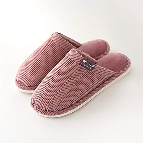 Sxuefang Zapatillas, Zapatillas caseras Pareja Interior Inferior Inferior Antideslizante no Caliente algodón Fregona