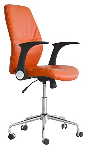 Cribel Icaro Dirigenziale Poltrona, Metallo Cromato, Arancio
