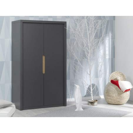 Alfred & Compagnie Armoire 2 portes Anthracite