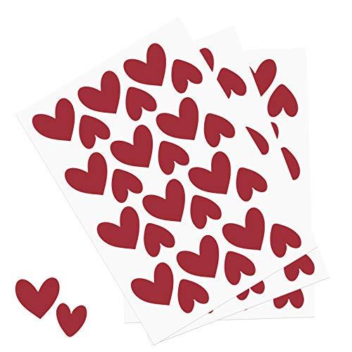 Y014 hartjesset muurtattoo stickers hart decoratie sticker voor kinderkamer babykamer rood