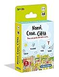 Clementoni- Nomi, Cose, Città Gioco da Tavola, Multicolore, 16563