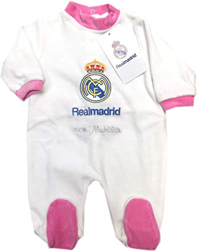 Pelele Niña Real Madrid Rosa 1-12 Meses (12 Meses)