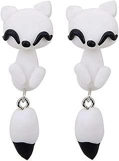 Lovely Clay Jewelry Charming Earbob Fox Dangle Earring Ear Studs Eardrop