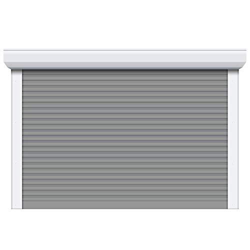 Porte de garage enroulable Aluminium blanc - Pose comprise (H 2,15m x L 2,5m)