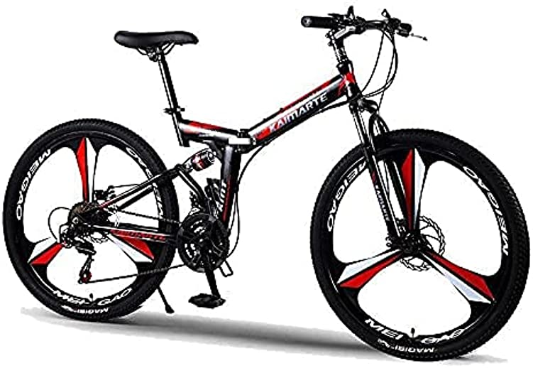 FMAX Z724 Road Bikes Racing Bicycles Folding Bicycle Mountain Bike 26 Inch Steel Dual Disc Brakes Speed Bicycles