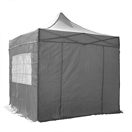 Tente 2.5m x 2.5m Pliable, Entièrement Waterproof, Gris avec 4 Panneaux et un Sac de Transport