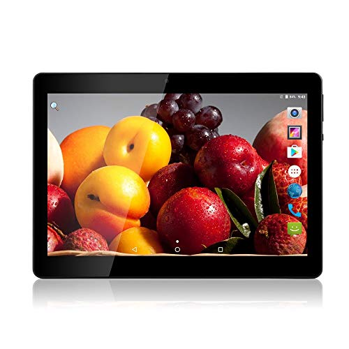 Tablet Android de 10 Pulgadas Octa Core CPU 4 GB RAM 64 GB Memoria Interna WiFi Cámara GPS Doble SIM sin Bloqueo Red 3G Tablet Negro Metal Negro