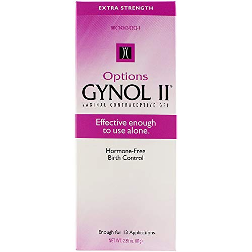 Options Gynol II Vagina Contraceptive Jelly Extra Strength - 2.85 oz, Pack of 4