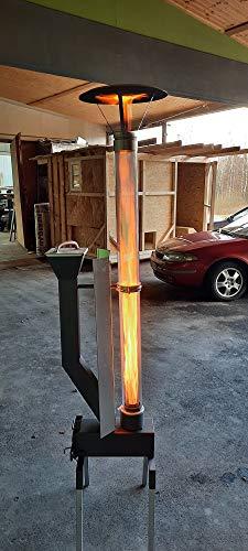 Mobile Pellet Fackel Gartenfackel Fackel für den Außenbereich Wärmequelle mit Einer hohen sehrschönen Flamme