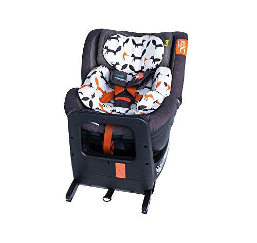 Cosatto RAC Come and Go i-Rotate Baby to Toddler Car Seat - i-Size 0-4 years, ISOFIX, Extended Rear Facing, Anti-Escape (Mister Fox)