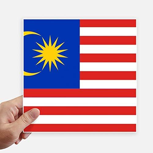 DIYthinker Drapeau National Malaisie Asie Country Square Autocollants 20CM Mur Valise pour Ordinateur Portable Motobike Decal 4Pcs 20Cm X 20Cm Multicolor