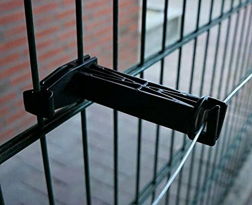 Isolator für Doppelstabmattenzaun Elektrozaun Gartenzaun, Band Litze Seil Draht (10)
