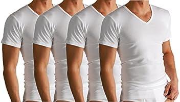 BestBuy-Shop 2 of 4 stuks heren business onderhemd met korte mouwen en V-hals.