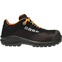 Base B878-S1P-T44 Calzado de Seguridad, Negro y Naranja, 44