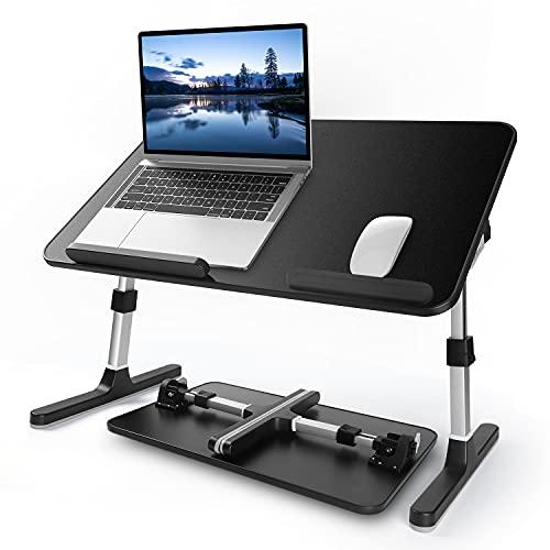 Escritorio plegable para ordenador portátil (negro, 21,65 x 13,57 pulgadas)