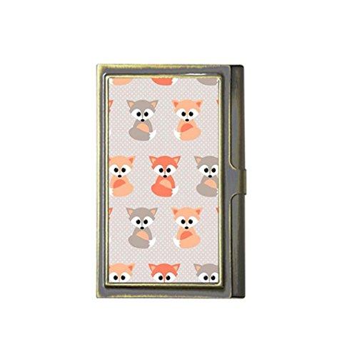 Caliente venta de zorros de bebé Custom Fashion imagen negocio bronce nombre titular de la tarjeta caja de acero inoxidable caso tarjetero soporte por Ajax Lily