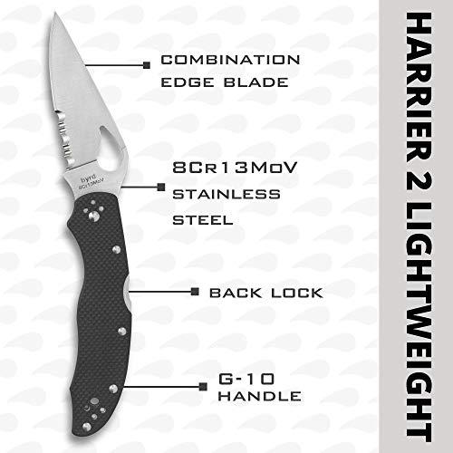 Spyderco Byrd Harrier 2 Folding Knife with 3.39