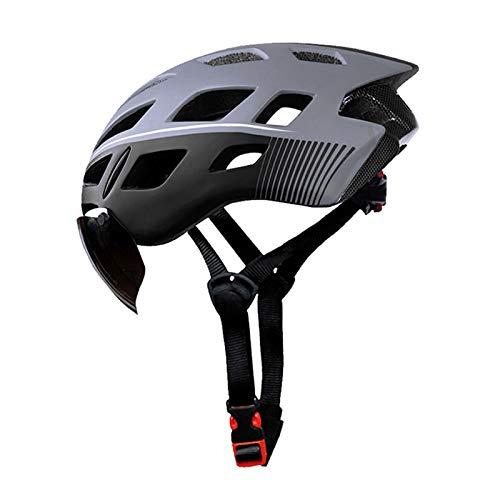 XYW Casco Adulto Cascos de Ciclismo - Equipo de Bicicleta de Carretera con Gafas para Hombres y Mujeres Cascos de Bicicleta de montaña Sombreros de Seguridad ultraligeros Ligero