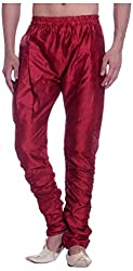 Royal Mens Art Silk Fine Quality Ready to Wear Harem Pants for Men-Free Size Red