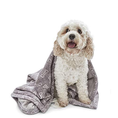 Silentnight Manta para Perro de Mascotas Suave y acogedora, Impermeable, Lavable a máquina y Reversible, tamaño Mediano, 88 x 140 cm