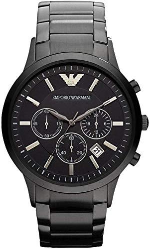 Reloj de pulsera de acero inoxidable con cronógrafo de 43 mm para hombre AR2453