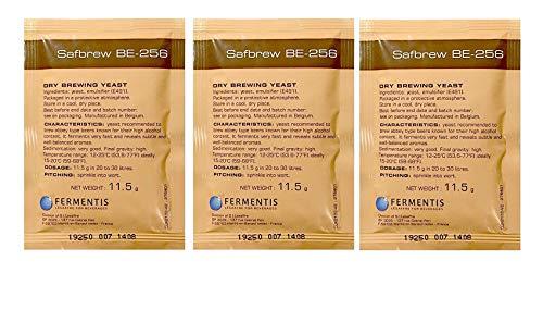 3x Fermentis Safale BE-256 Bier Gist Abdij stijl ales 11.5g 20-30L