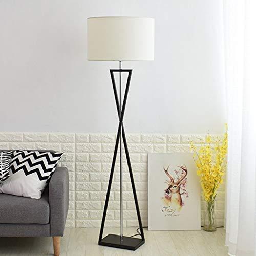 LY88 Licht Nordic Einfache Stehlampe für Schlafzimmer Nachttischlampe Europäischen Eisen Vertikale Lampe 0609A Farbe: cremefarben
