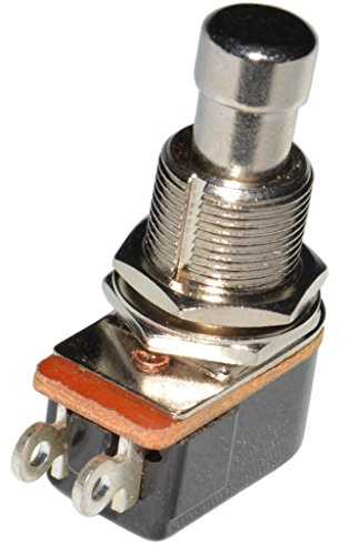 DIYPedalGearParts ® 2 x SPST Fußschalter OFF-(ON) Momentary, normally open, stomp box, pedal effect, DIY