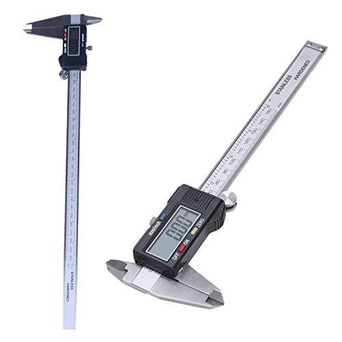 DXX-HR Plata 6 pulgadas / 150 mm electrónica digital rey Calibre pie de la pantalla LCD grande de herramientas Minimeter y 300 mm LCD digital vernier de micrómetro del calibrador de pantalla herramien