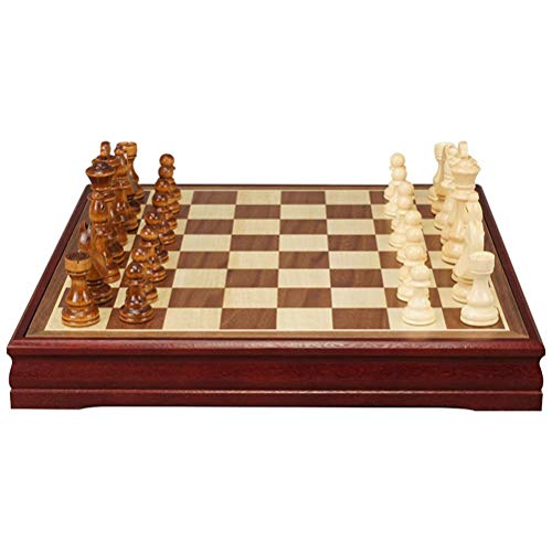 OUCRIY Wooden Chess Game Parents Child Interactive Toy Family Game Chess Board Gift for Children and Adults