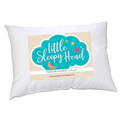 Toddler Pillow - Soft Hypoallergenic - Best Pillows for Kids! Better Neck Support and Sleeping! They Will Take a Better Nap in Bed, a Crib, or Even on the Floor at School! Makes Travel Comfier! by Little Sleepy Head